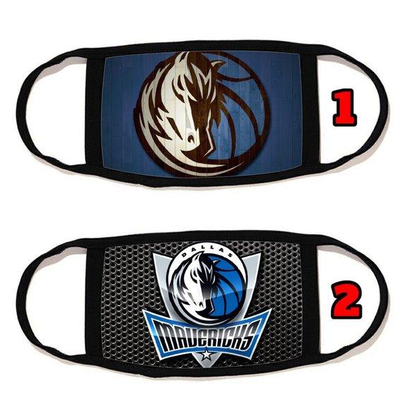 2 PACKS Dallas Mavericks face mask face cover